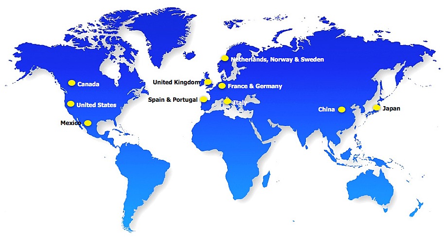 Different locations and countries where Waggle Dance has been